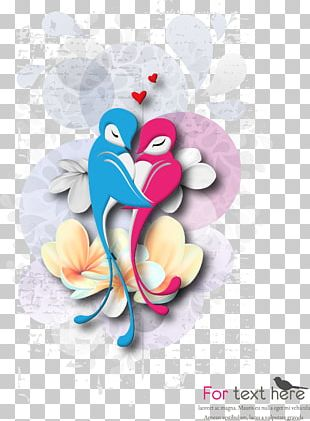 Cartoon Love Birds PNG