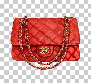 Chanel Handbag Watercolor Painting Fashion PNG