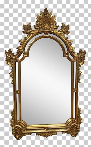 Frames Gold Leaf Wall Mirror Ornament PNG
