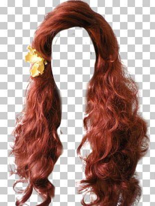 Wig Long Hair Hair Coloring Hair Tie PNG