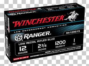Winchester Repeating Arms Company Shotgun Slug 20-gauge Shotgun Ammunition Firearm PNG