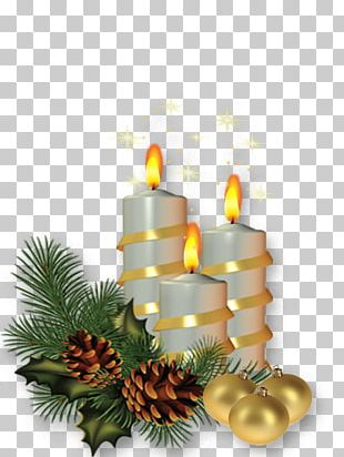 Christmas Tree Candle PNG