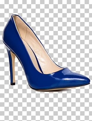 Blue Court Shoe Heel Clothing Accessories PNG