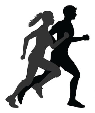 Running Silhouette Jogging PNG