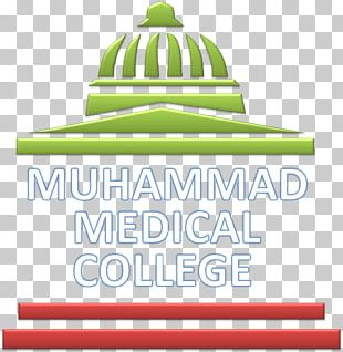 Logo Brand Muhammad Medical College Green PNG