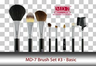 BH Cosmetics Eye Essential 7 Piece Brush Set Make-Up Brushes Face Powder PNG