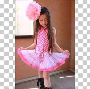 Tutu Polka Dot Dance Pink M Child PNG