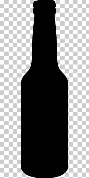 Beer Bottle Silhouette Glass Bottle PNG