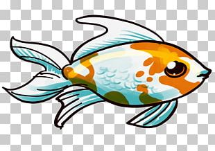 Comet Bubble Eye Butterfly Tail Fish Breed PNG