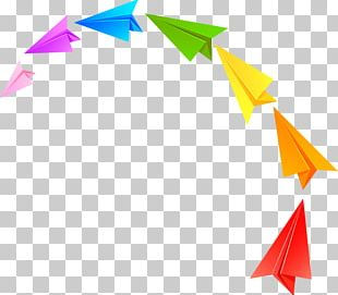 Paper Plane Airplane Red PNG