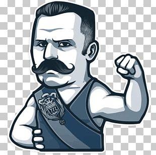 Sticker Russian Moustache Telegram PNG