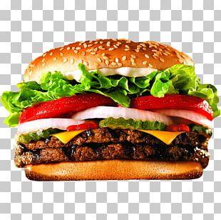 Hamburger Whopper Cheeseburger Fast Food Big King PNG