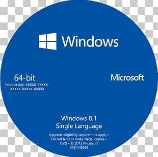 Windows 10 64-bit Computing Microsoft Windows Windows 7 Product Key PNG