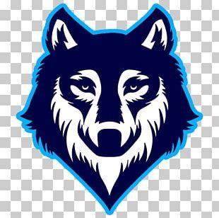 Gray Wolf Logo Drawing PNG
