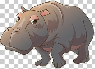 Hippopotamus Painting Kinder Happy Hippo PNG