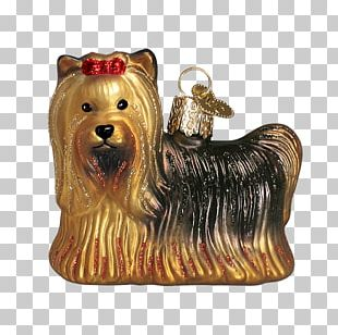 Yorkshire Terrier Christmas Ornament Australian Silky Terrier Santa Claus Christmas Day PNG