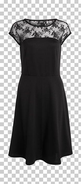 Little Black Dress Shoulder Sleeve Black M PNG