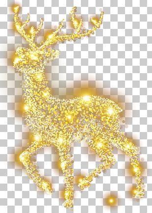 Reindeer Elk Christmas Decoration PNG