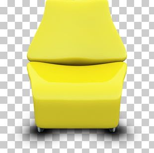 Angle Yellow Car Seat Cover PNG