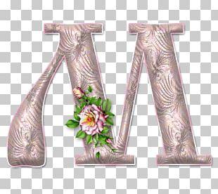 ABC Of Flowers Letter Alphabet Decoupage Font PNG