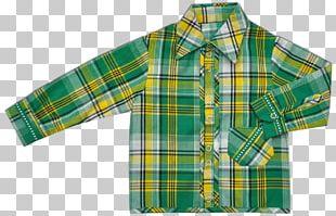 Sleeve Tartan Button Shirt Outerwear PNG