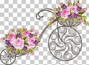 Bicycle Basket Flower Stock Photography PNG