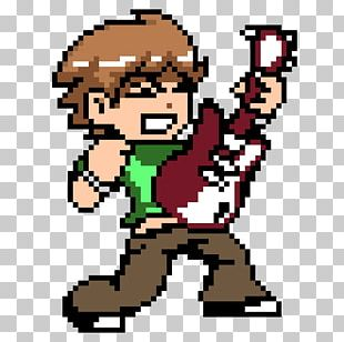 Scott Pilgrim Vs. The World: The Game Pixel Art Minecraft PNG