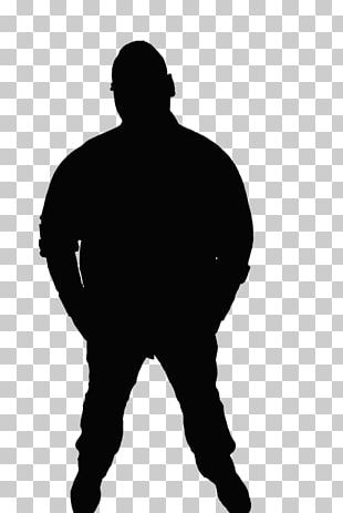 Silhouette Man Black And White Adult PNG