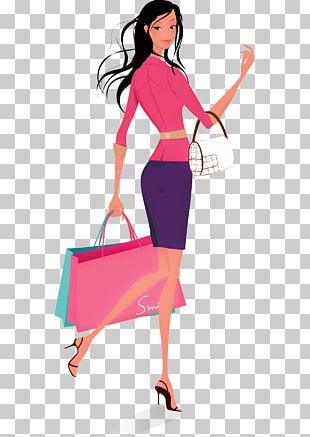 Woman Shopping PNG