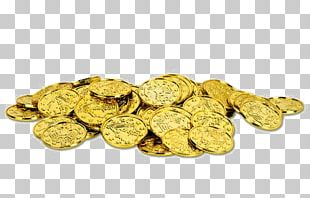 Gold Coin Treasure Pirate Plastic PNG