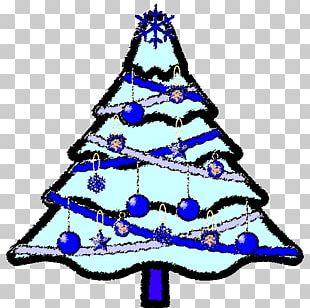 Christmas Tree Christmas Ornament Santa Claus Christmas Card PNG