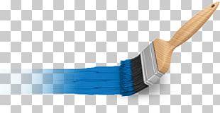 Blue Paint Brush PNG