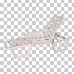 Plastic Chaise Longue Deckchair Table PNG