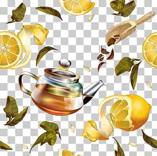Green Tea Teapot Packaging And Labeling PNG