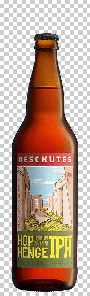 India Pale Ale Deschutes Brewery Beer Bottle PNG