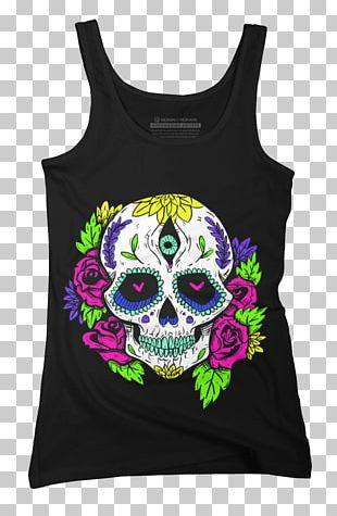 La Calavera Catrina T-shirt Day Of The Dead Skull PNG