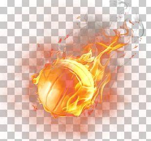 Light Basketball Fire PNG