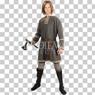 Middle Ages Robe Tunic Belt Seax PNG