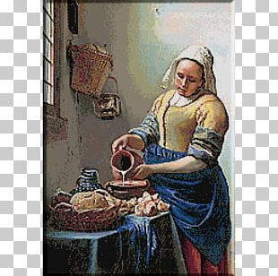 Rijksmuseum The Milkmaid Woman In Blue Reading A Letter The Love Letter Oil Painting PNG
