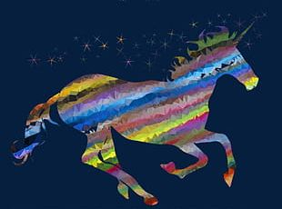 Unicorn Colorful Constitute PNG
