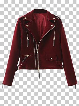 Leather Jacket Coat Velvet Flight Jacket PNG