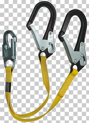 Carabiner Fall Arrest Lanyard Safety Harness Fall Protection PNG