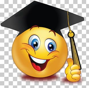 Graduation Ceremony Emoticon Smiley Emoji Graduate University PNG