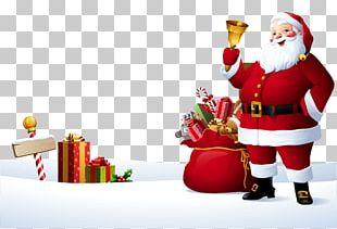 Rudolph Santa Claus Reindeer Christmas Illustration PNG