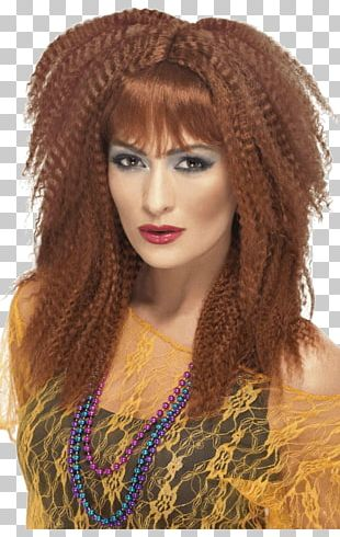1980s Wig Costume Fashion Ponytail PNG