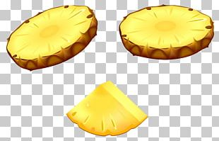 Upside-down Cake Pineapple Slice Pizza PNG