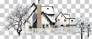 Winter House Snow PNG
