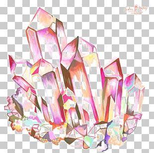 Geode Crystal Drawing Quartz Amethyst PNG