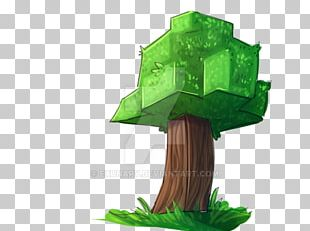 Minecraft Tree Drawing Doodle PNG