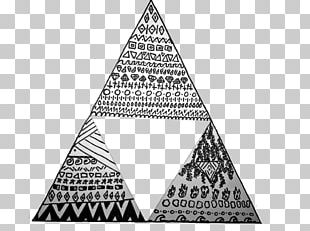 Triangle Area Hipster Black And White PNG